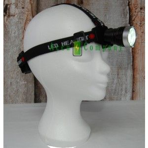 High Lumen Hoofdlamp LED op batterij type Li-ion 18650