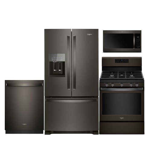 kit whirlpool black stainless steel 4 piece kitchen appliance package with gas range best 25  kitchen appliance packages ideas on pinterest   appliance      rh   pinterest com