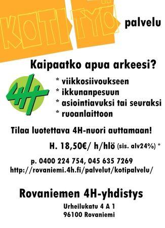 Kotipalvelu - Rovaniemen4 H-yhdistys