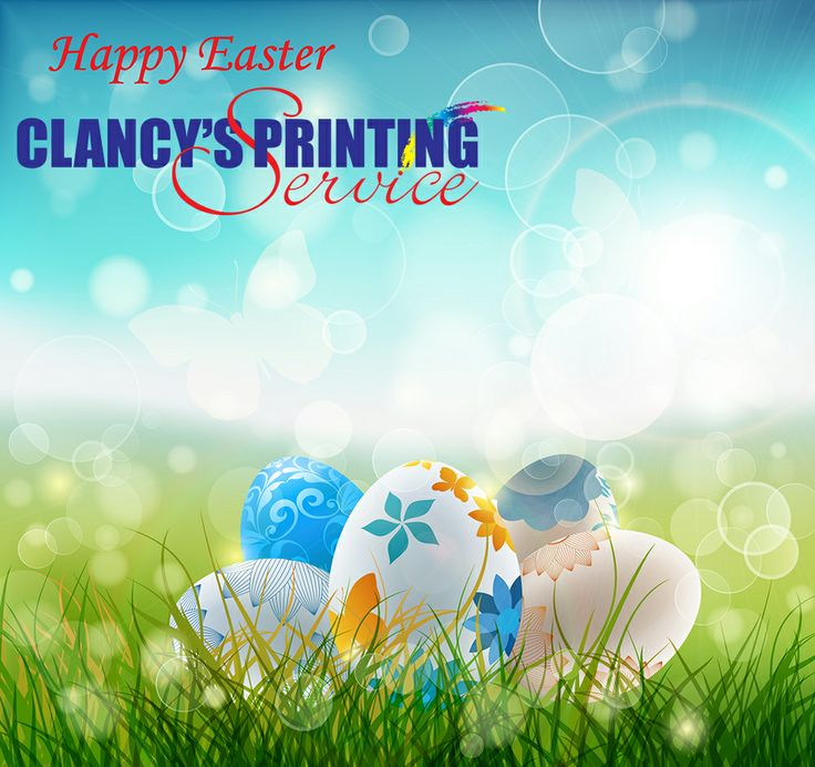 Clancy's Printing Service Easter promotional
