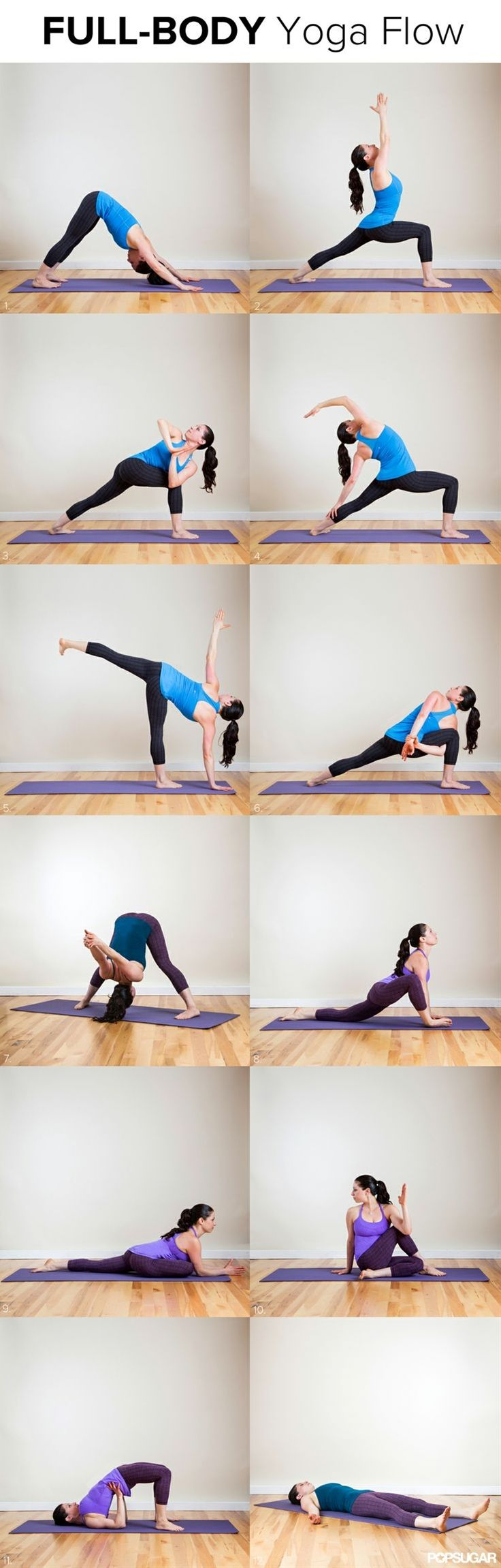 Todays workout in our Bikini Body Countdown is a yoga flow to help you get long and lean. Its perfect for lengthening tight muscles while wo