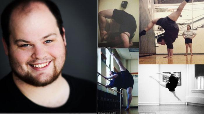 Alamak! Pria Gemuk Ini Ternyata Seorang Penari Balet, Lihat Kelenturan Tubuhnya Saat Beraksi
