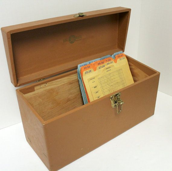 vintage disc mate 45 rpm record storage box by casecraft wood case