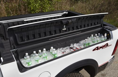 OMG I want a built in cooler on my future oversized jacked up truck!! razorback tailgating - Google Search