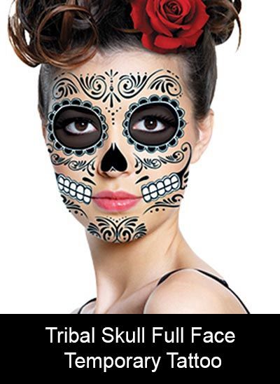 17 best images about halloween mask and costumes on for Face tattoo makeup
