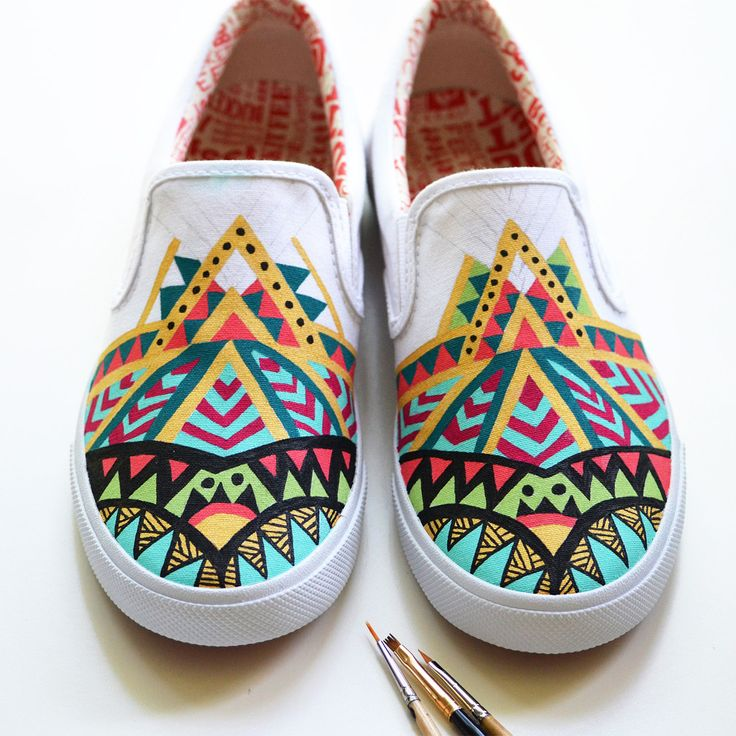 My first hand made Bucketfeet shoes. Materials used: pencil & Folk Art  acrylic paint from Plaid Crafts.