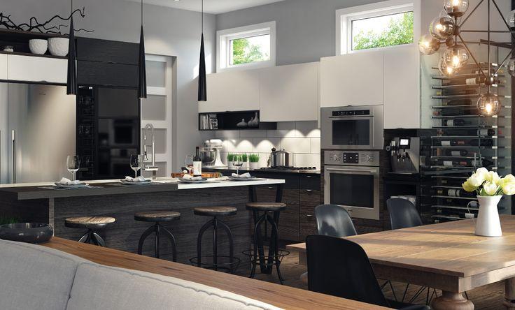 Mélanger styles scandinaves et industriels ? C'est le défi qu'a su relever SPACIA pour l'aménagement complet d'une nouvelle construction résidentielle.