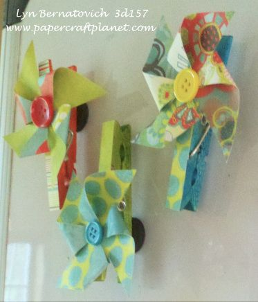 Love all the things you can do with clothespin...good way to use up paper scraps too!: Paper Scrap