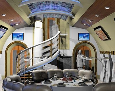 This is the inside of a private plane!   See the 10 most expensive private planes.