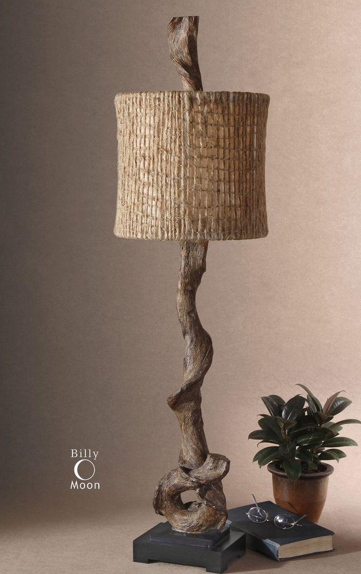Pottery barn clift glass lamp ebay - Uttermost Driftwood Buffet Lamp