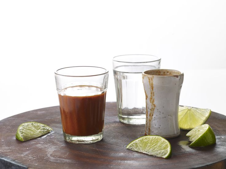 Sangrita is a chaser that you sip in between sips of your favorite tequila. It's the way we do it in Mexico. This one mixes smoky and sweet with ancho chiles, orange juice, and lime that will go great with your favorite sipping tequila.