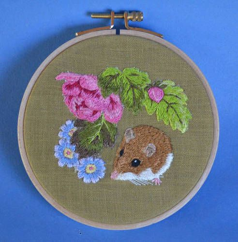 Mouse and flowers by HL Tyler