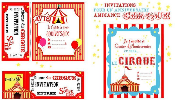 invitation anniversaire cirque anniversaire pinterest invitations. Black Bedroom Furniture Sets. Home Design Ideas