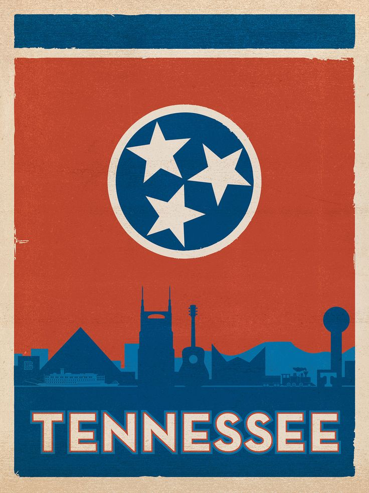 Get Your Tennessee Flag Jigsaw On! Get your beautiful flag of Tennessee with landmarks designed by local artisans. Makes a fantastic gift.