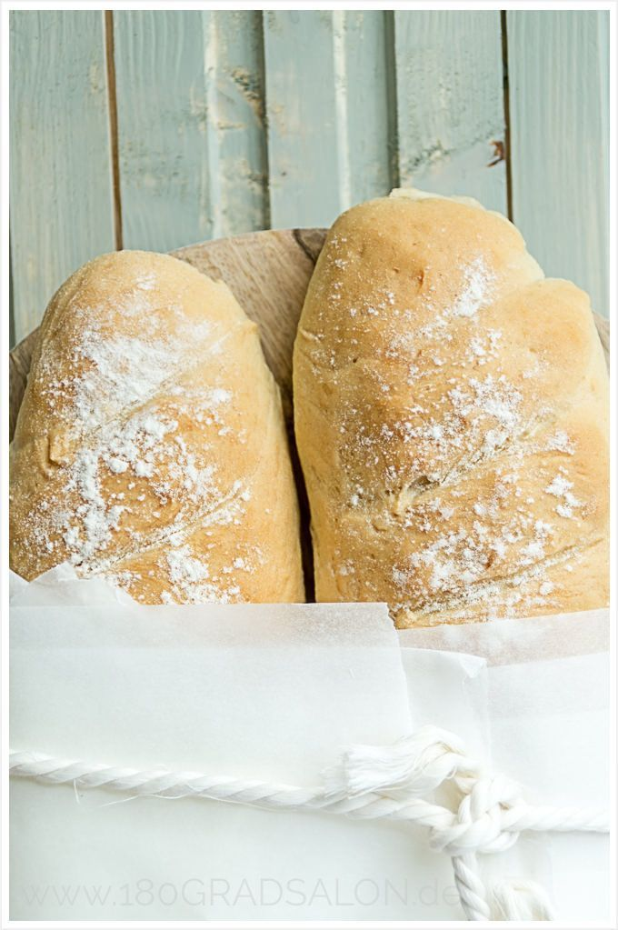 Das schnellste Rezept der Welt für ein frisches Baguette   Recipe fresh and fast Baguette Bread by 180°Salon