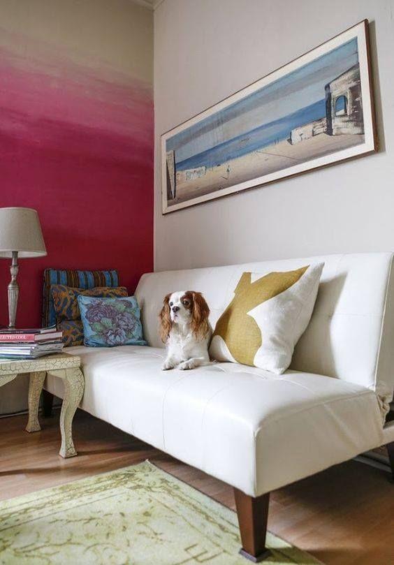 Paredes de colores brillantes colores para pintar la casa - Colores de moda en paredes ...