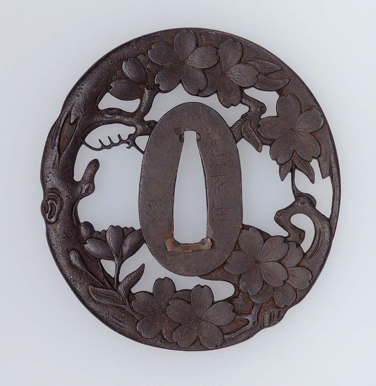 Tsuba with design of cherry tree. Japanese Edo period early to mid-19th century (Ito Masahisa), Bushû School http://www.mfa.org/collections/object/tsuba-with-design-of-cherry-tree-11516