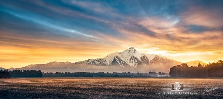 Mountainscape of the Southern Alps - New Zealandscapes