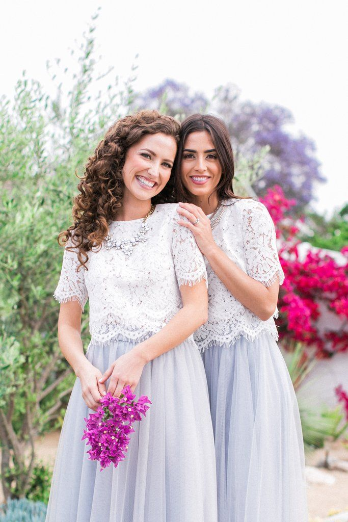 040d1aa6ef505d ... lace crop top is a promising pick for any engagement outfit! We adore  the romantic floral lace details with scalloped hem. Pair it with any full  skirt ...