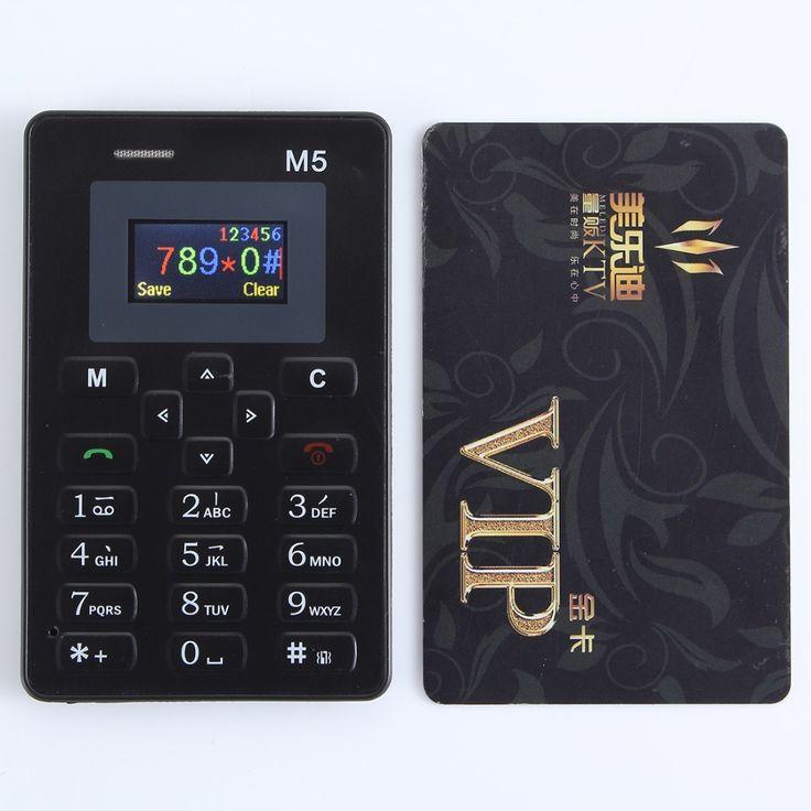 El más caliente de mini teléfono aeku m5 pantalla a color con inglés/teclado ruso pk aiek m5 pone celular ultra delgado teléfono móvil
