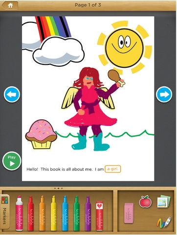 Scribble my Story is an app that allows students to draw their stories. They can write text as well as voice record. Being able to use this type of application may get students more interested and engaged. On the plus side, it's less messy than using crayons, markers, colored pencils, etc.