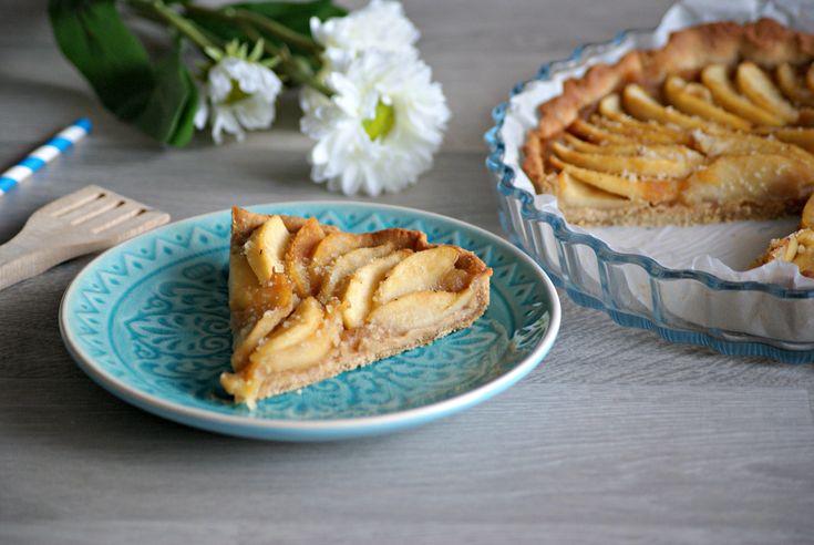 Recette sans gluten et sans lactose Normande d'origine, la tarte aux pommes est…