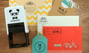 Groupon - One or Two Personalized Self-Inking Stamps from Stampanda (Up to 54% Off) in [missing {{location}} value]. Groupon deal price: $22.50