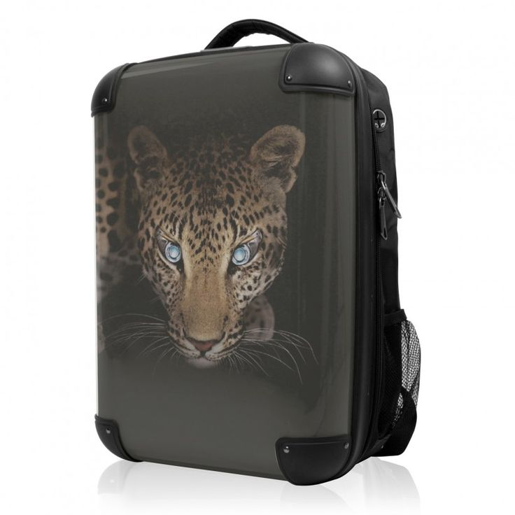 """BLNBAG - Rucksack Weich/Hart Hybrid Design: Leopard, 50 cm, 28 Liter; Schwarzer #Rucksack aus der Serie """"BLNBAG"""" von #Hauptstadtkoffer.  #Hartschalenkoffer #Handgepäck #Schwarz #Koffer #Travel #Luggage #Reisen #Urlaub #black #leopard #leo => mehr Schwarze Koffer: https://hauptstadtkoffer.de/de/reisegepack/alle-produkte?color=24"""