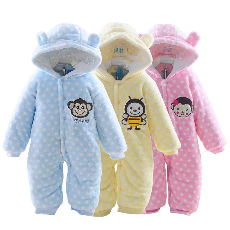 Cute Spring Autumn Baby Rompers Flannel Baby Boys Girls Jumpsuits Cartoon Hooded Jumpsuit Children Soft Rompers Kids Clothes