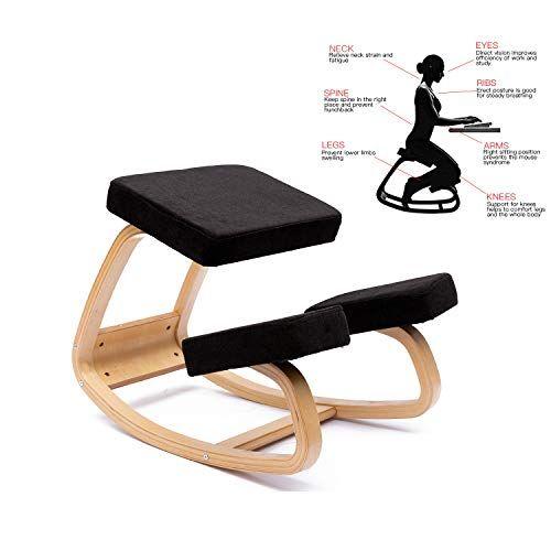 Enmsplus Ergonomique Chaise A Genoux Chaise De Yoga Tabouret Multi Colore Noir Tissu En 2020 Chaise Ergonomique Chaise De Yoga Tabouret Ergonomique