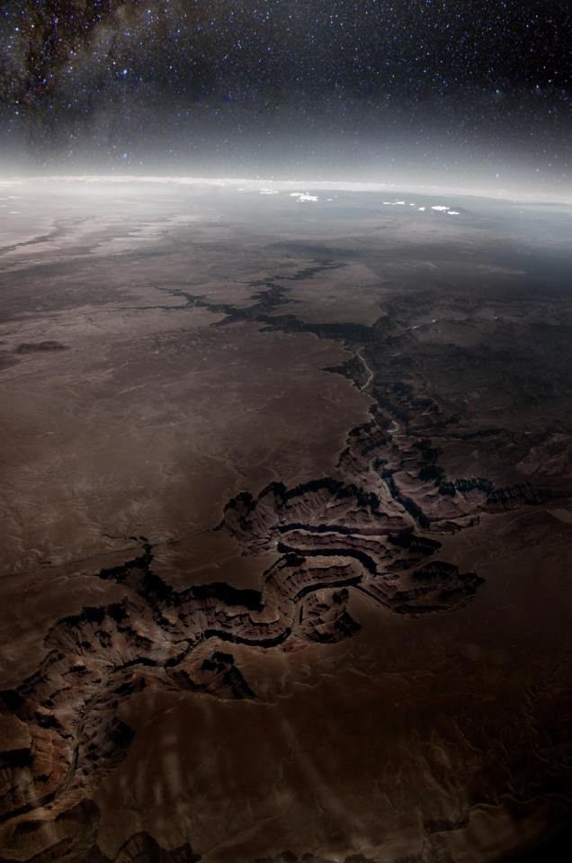 Grand Canyon from above. Hmm, I always thought of it as more of a round hole...