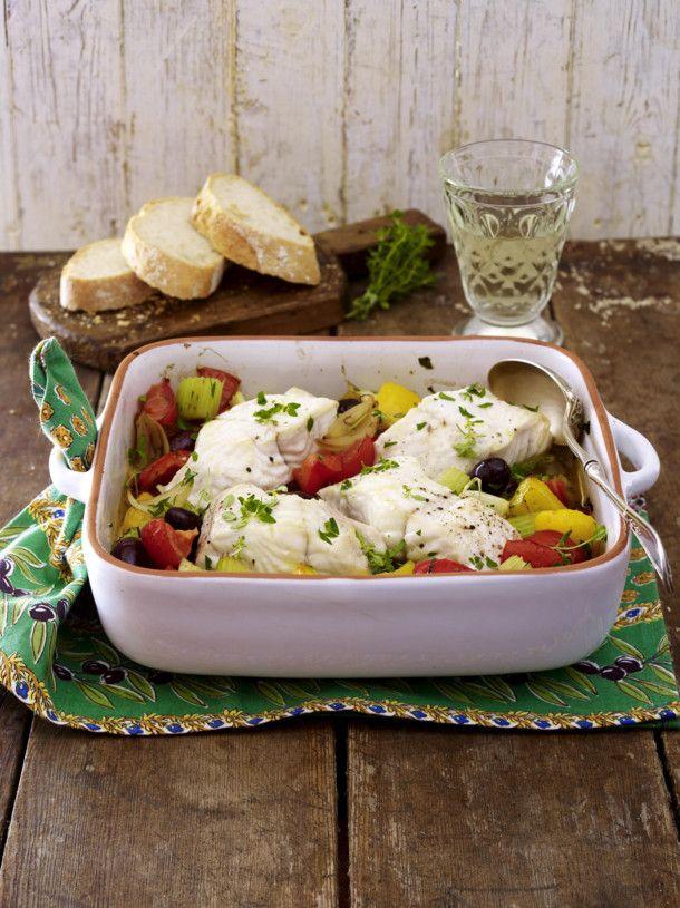 Unser beliebtes Rezept für Fischfilet auf französischem Gemüse und mehr als 55.000 weitere kostenlose Rezepte auf LECKER.de.