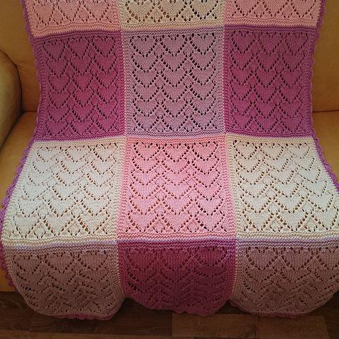 Knitmeasweater : FREE KNITTED PATTERN SWEETHEART BLANKET DISCLAI...