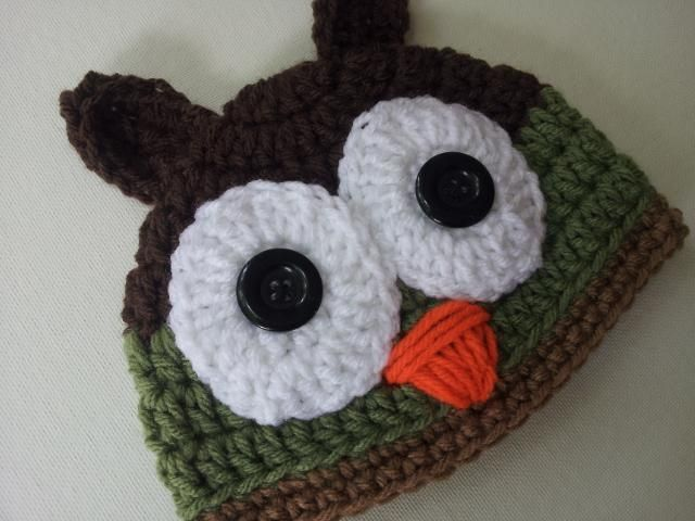 17 Best images about Crocheted hats on Pinterest Owl hat ...