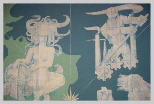 Pedro Lobos (1919-1968) Mural ALADI Montevideo, Uruguay.