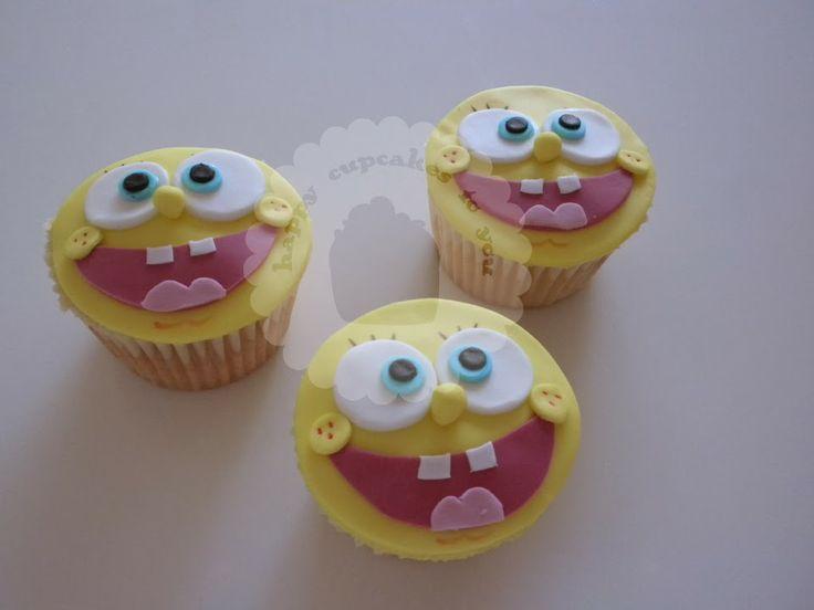 Bob Sponge cupcakes Bob Esponja