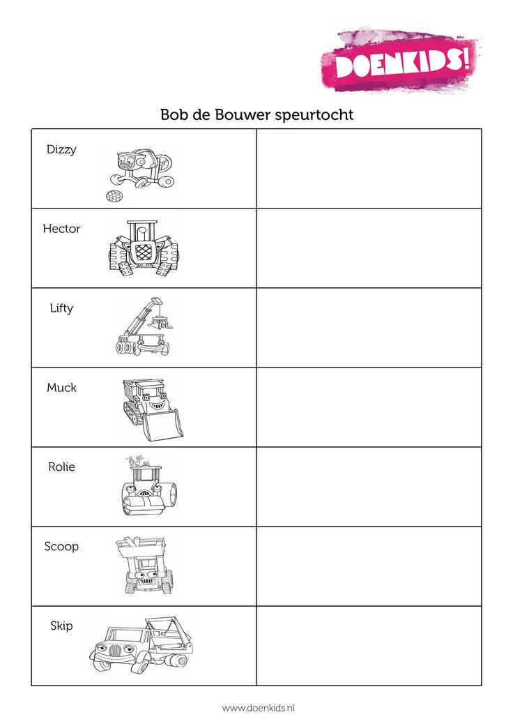 Bob de Bouwer speurtocht - downloaden via www.activitheek.nl