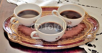 A photo of mine with 3 coffe cups available on fotolia for use in web and printed articles! Use it! :)