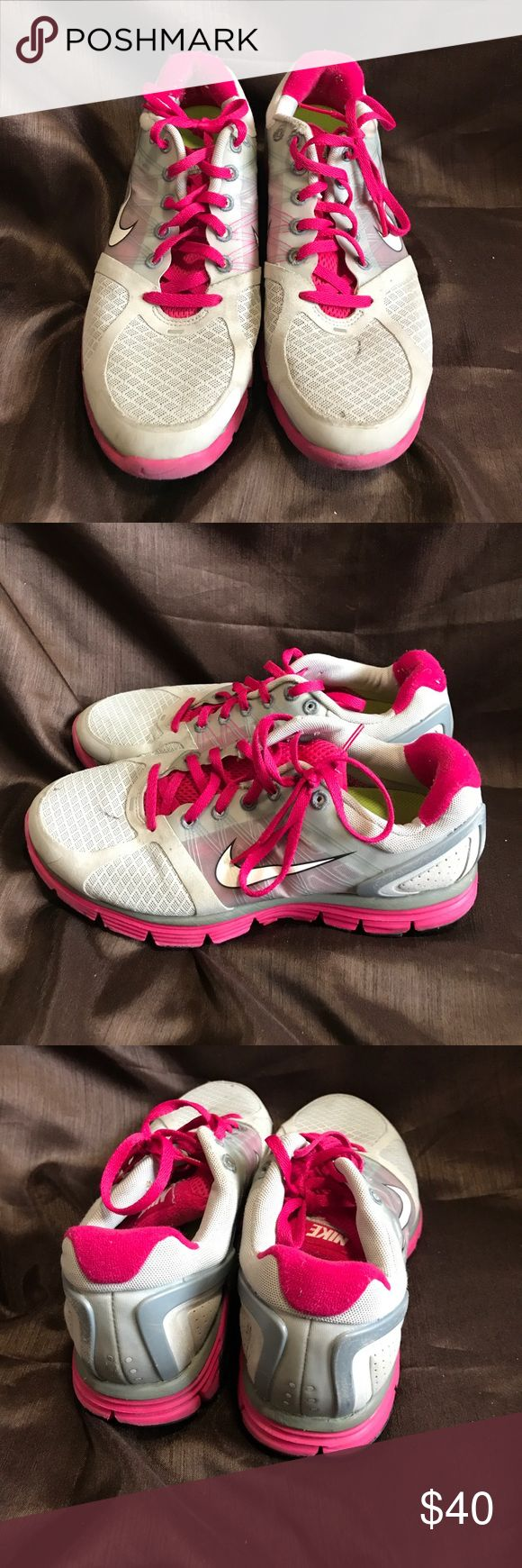 Nike Sneakers Pink and gray Nike Lunarglide 2 Running shoes. Place an offer!! Excellent condition!! Nike Shoes Athletic Shoes