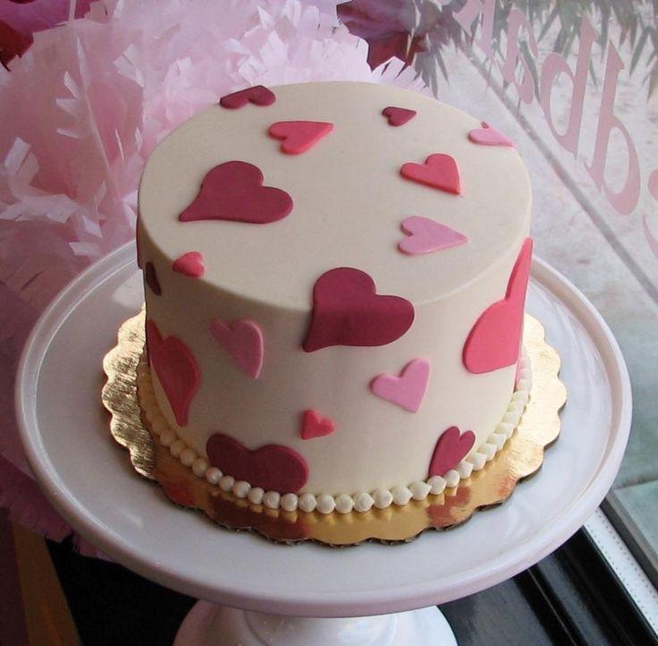 Decoracion tortas en el dia del Amor. Tortas de San Valentin. Ideas.
