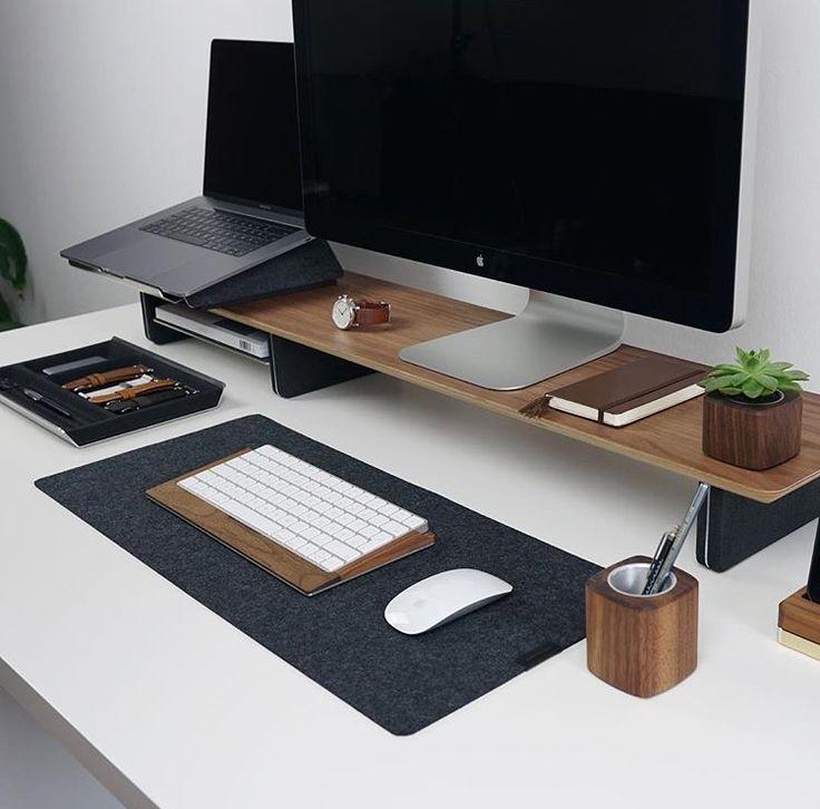 macbook pro and apple cinma display minimal setup nicolayt on instagram - Computertisch Fr Imac 27
