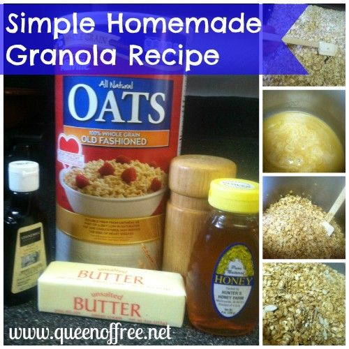 Welcome WTHR Weekend Sunrise Viewers: Save Money with A Homemade Summer:  Homemade granola -- easy recipe includes standard ingredients you probably already have in the pantry, plus nothing artificial.  From Blogger: Queen of Free  <3 her!!
