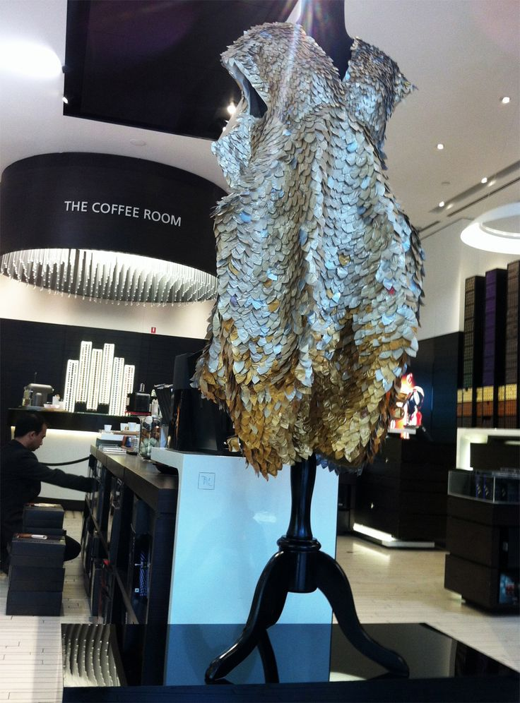 The Dress is on display in the Nespresso store in Doncaster this week- ending 4th August 2013. www.mucke.com.au