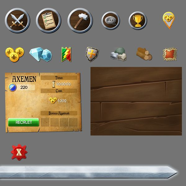 Medival UI elements by josefuentes.deviantart.com on @deviantART