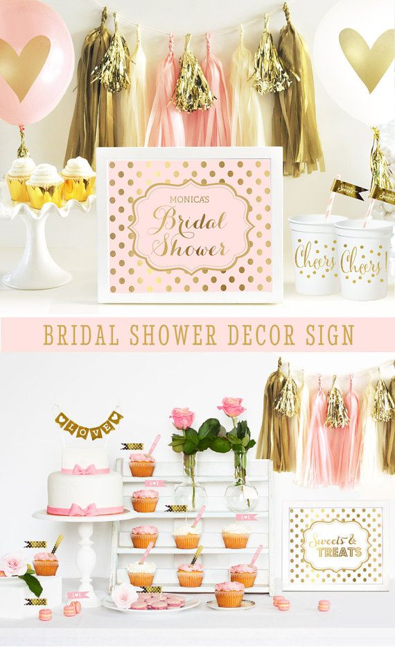 Pink Bridal Shower Decor Pink Bridal Shower by ModParty on Etsy