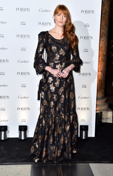 Florence Welch attending the Letters Live Black Tie Gala Dinner, at the V&A, London