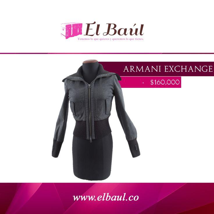 @ArmaniExchange produce la gran mayoría de sus colecciones en-casa $160,000  http://elbaul.co/Productos/741/Chaqueta-ARMANI-EXCHANGE-gris-