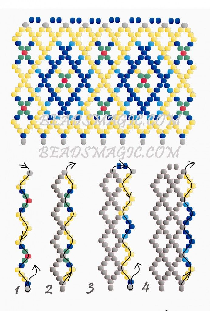 Free pattern for necklace Magdalena | Beads Magic