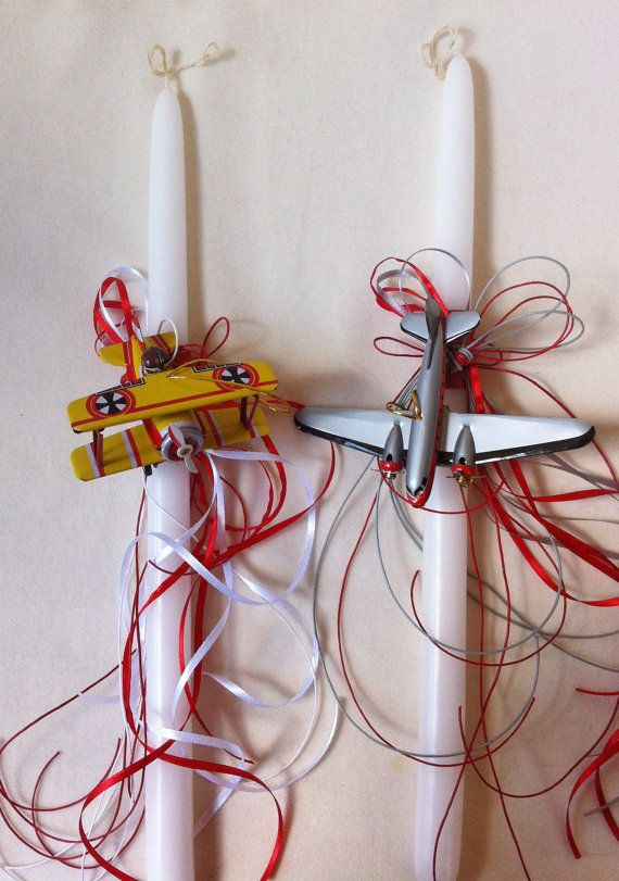 Orthodox Easter Candle Airplane