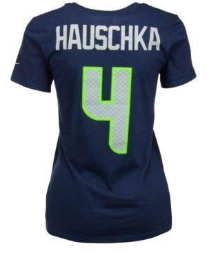 Nike Women's Steven Hauschka Seattle Seahawks Player Pride T-Shirt - Blue XS